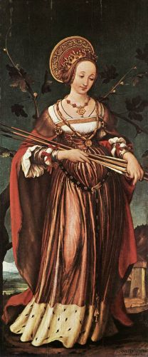 St Ursula by Hans Il Giovane Holbein