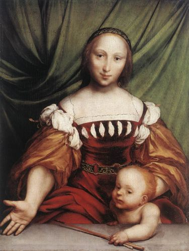 Venus and Amor by Hans Il Giovane Holbein