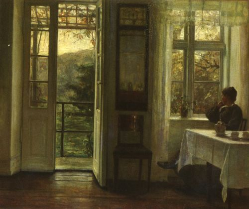At The Window by Carl Holsoe
