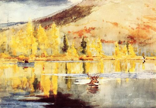 An October Day by Winslow Homer