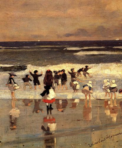 Beach Scene by Winslow Homer