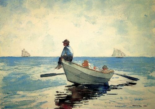 Boys in a Dory 1 by Winslow Homer