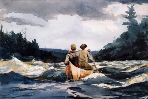 Canoe in the Rapids by Winslow Homer
