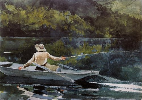 Casting the Fly by Winslow Homer