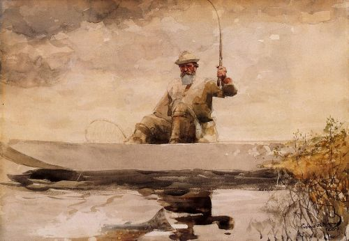 Fishing in the Adirondacks by Winslow Homer