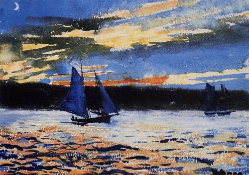 Gloucester Sunset by Winslow Homer