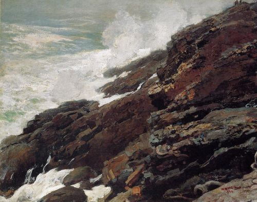 High Cliff, Coast of Maine by Winslow Homer
