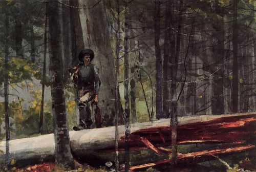 Hunter in the Adirondacks by Winslow Homer