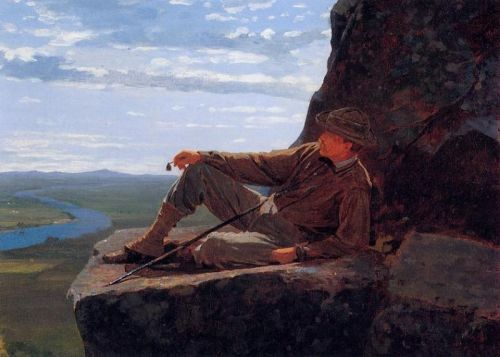 Mountain Climber Resting by Winslow Homer
