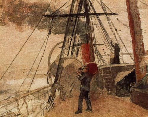 Observations on Shipboard by Winslow Homer