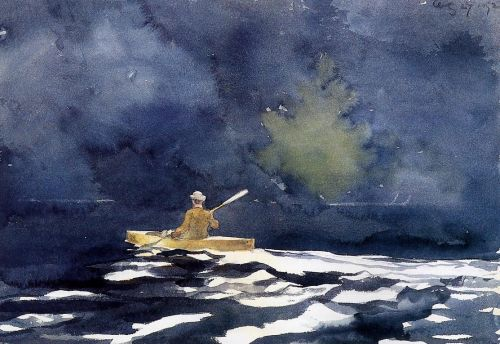 Paddling at Dusk by Winslow Homer