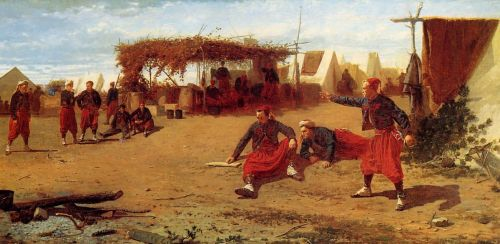 Pitching Horseshoes or Quoit Players by Winslow Homer