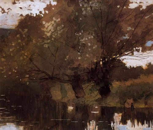 Pond and Willows, Houghton Farm by Winslow Homer