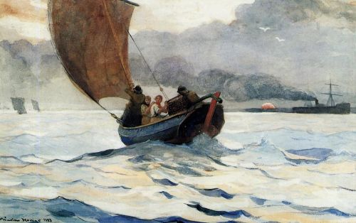 Returning Fishing Boats by Winslow Homer