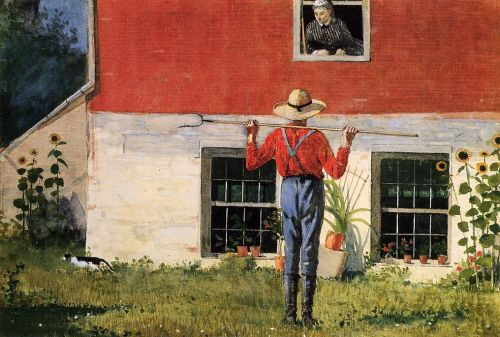 Rustic Courtship by Winslow Homer
