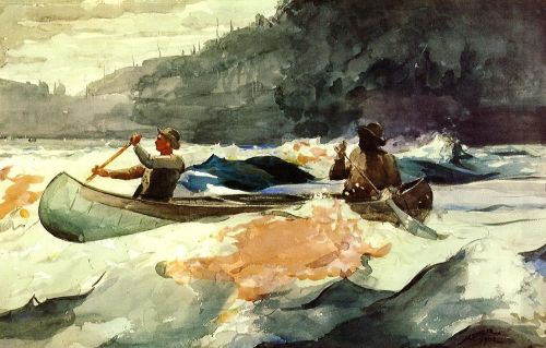 Shooting the Rapids by Winslow Homer