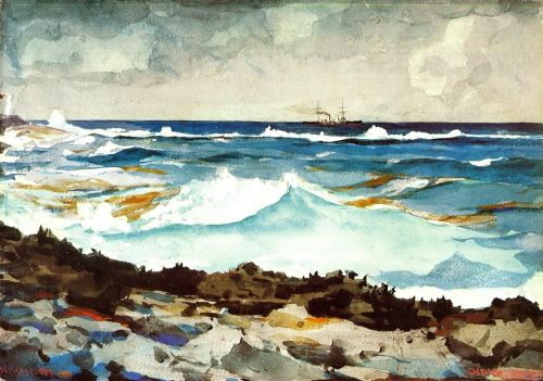 Shore and Surf by Winslow Homer