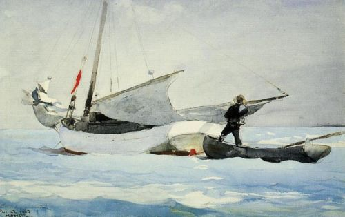 Stowing the Sail by Winslow Homer