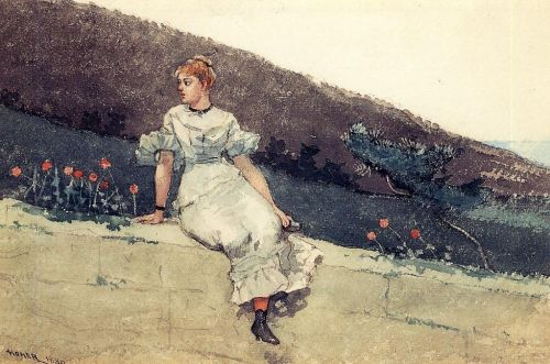 The Garden Wall by Winslow Homer