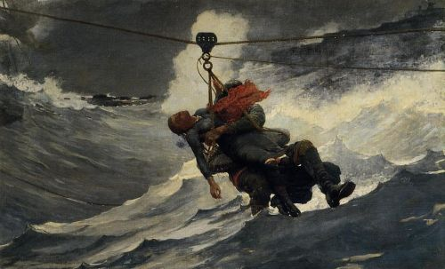 The Life Line by Winslow Homer