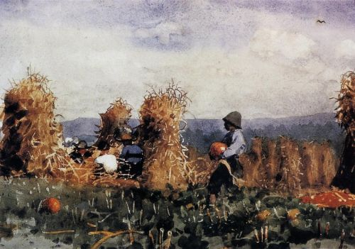 The Pumpkin Patch by Winslow Homer