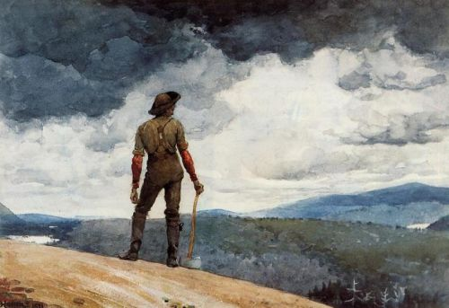 The Woodcutter by Winslow Homer