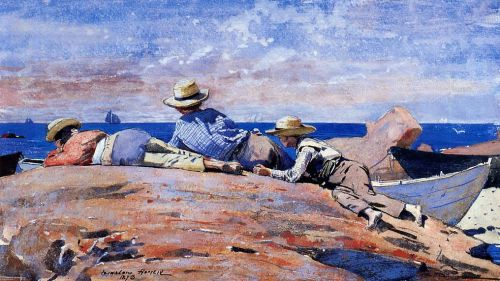 Three Boys on the Shore by Winslow Homer