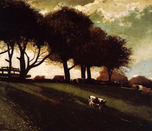 Twilight at Leeds, New York by Winslow Homer