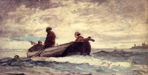 Tynemouth Priory, England by Winslow Homer