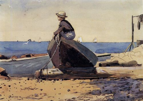 Waiting for Dad by Winslow Homer