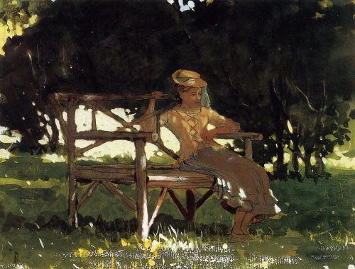 Woman on a Bench by Winslow Homer