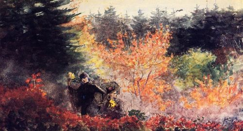Woods at Prout's Neck by Winslow Homer