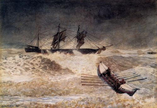 Wreck of the Iron Crown by Winslow Homer