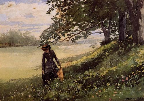 Young Woman with a Parasol by Winslow Homer