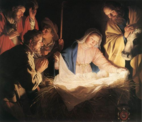 Adoration of the Shepherds by Gerrit van Honthorst