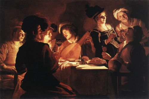 Supper Party by Gerrit van Honthorst