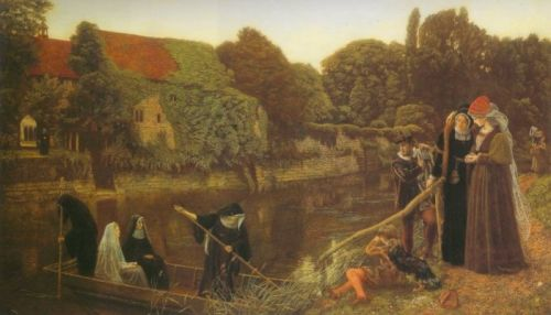 The Convent Boat by Arthur Hughes