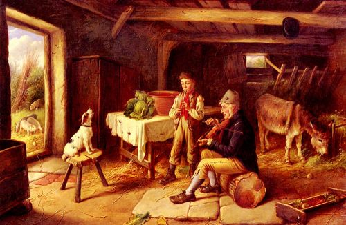 A Cottage Concert by Charles Hunt