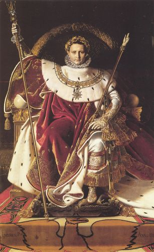 Napoleon I on His Imperial Throne by Jean Auguste Dominique Ingres