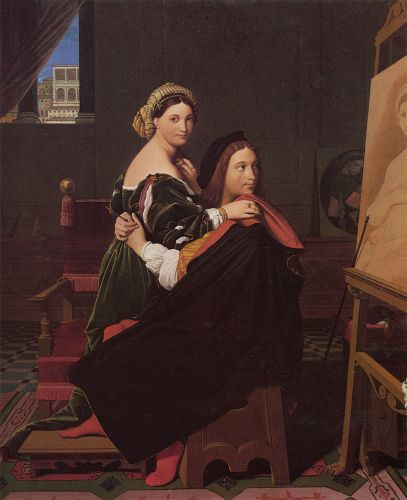 Raphael and the Fornarina by Jean Auguste Dominique Ingres