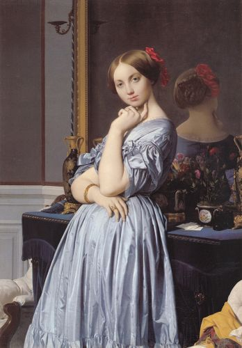 Vicomtess Othenin d' Haussonville, nee Louise-Albertine de Broglie by Jean Auguste Dominique Ingres