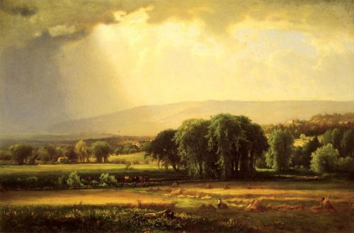 Harvest Scene in the Delaware Valley by George Innes
