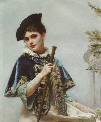 A Portrait of a Noble Lady by Gustave Jacquet
