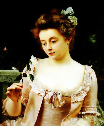 A Rare Beauty by Gustave Jacquet