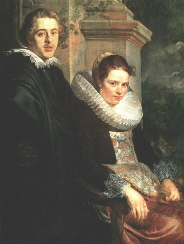 Portrait of a Young Married Couple by Jacob Jordaens