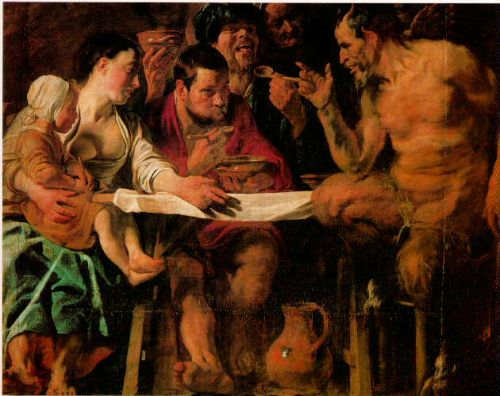 The Satyr and the Peasant by Jacob Jordaens