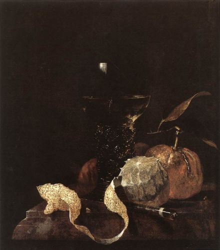 Still-Life with Lemon, Oranges and Glass of Wine by Willem Kalf