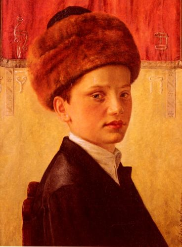 Portrait of a Young Chassidic Boy by Isidor Kaufmann