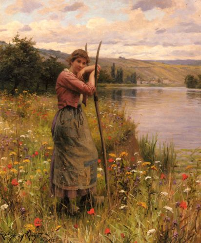 A Moment Of Rest by Daniel Ridgway Knight