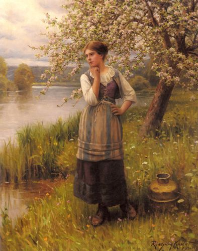Beneath The Apple Tree by Daniel Ridgway Knight